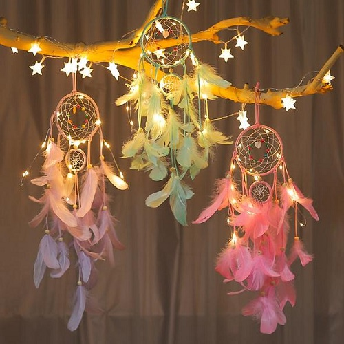 Colorful Night Lighting Led Dream Catcher