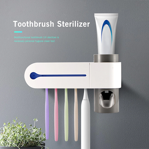 Toothbrush Sanitizer - Toothpaste Dispenser